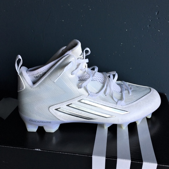 factory authentic 265bd 68c99 Adidas Crazyquick 2.0 Mid Football Cleats White